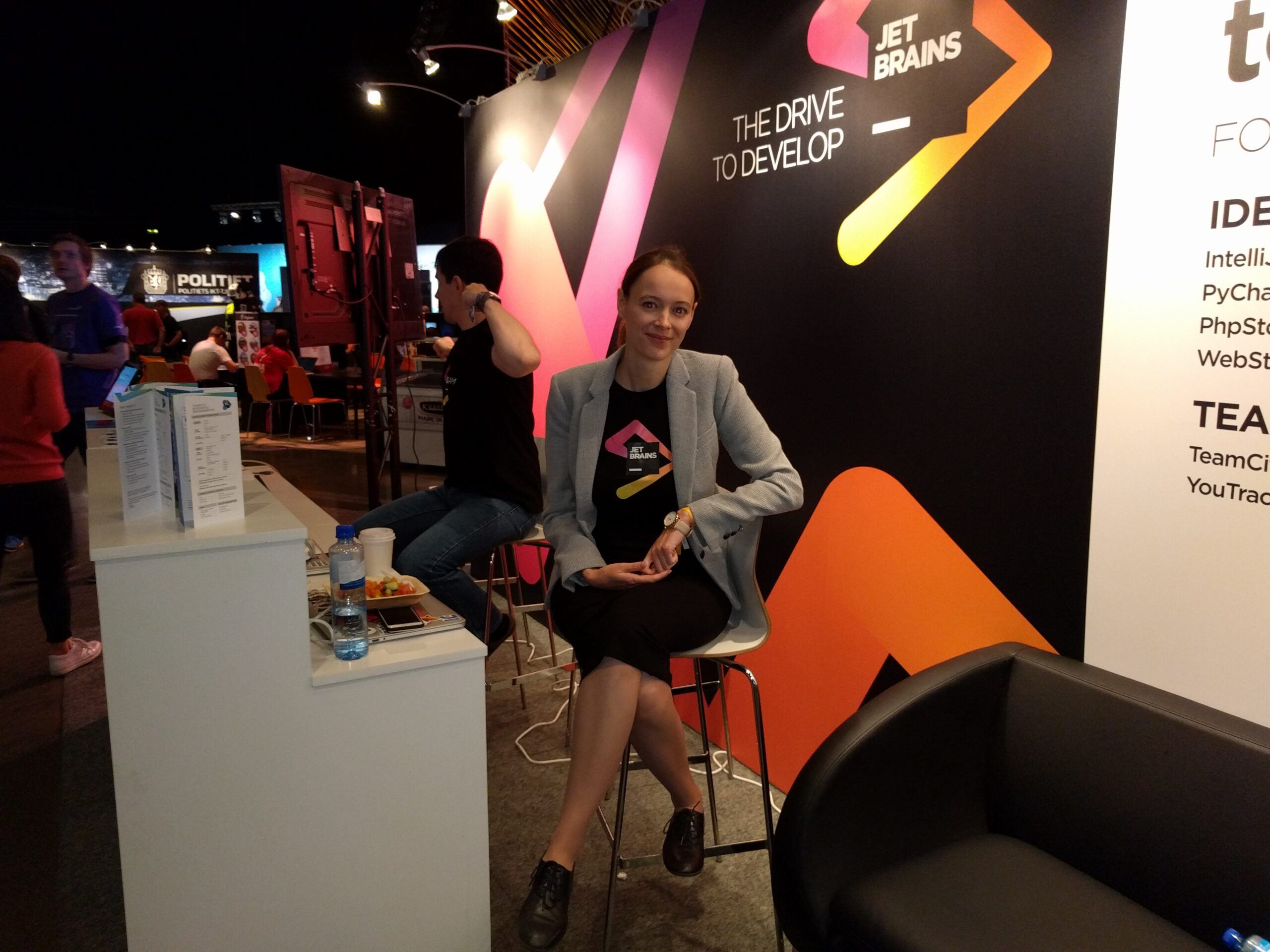 The JetBrains stand