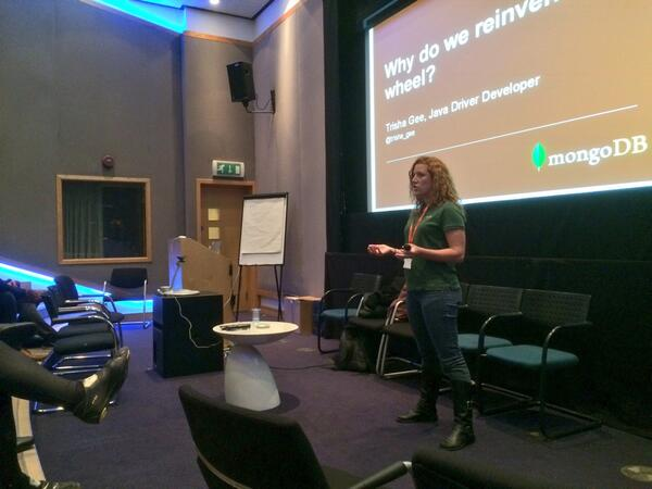 Trisha presenting